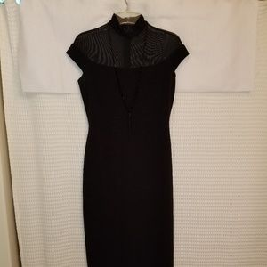 Night Way full length dress SZ 8 High collar with-